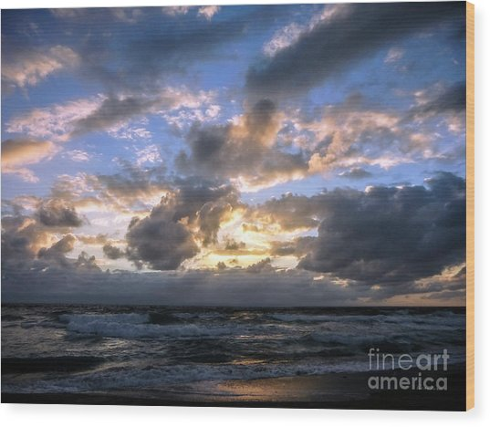 Dawn Of A New Day Treasure Coast Florida Seascape Sunrise 138 Wood Print