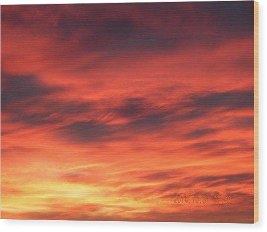 Dawn Of Color Wood Print