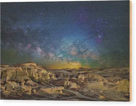 Dawn Of The Universe Wood Print