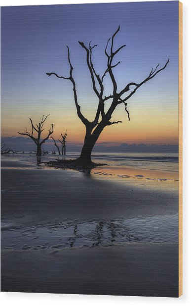 Dawn On Bull Island Wood Print