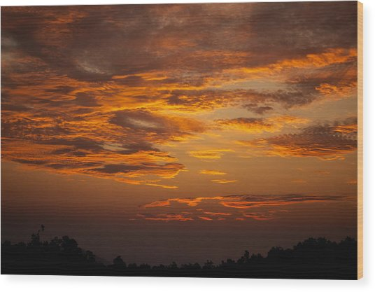 Dawn On Gaither Mountain At Ponca Wilderness Wood Print