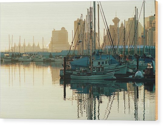 Dawn Serenity Wood Print by Frank Townsley