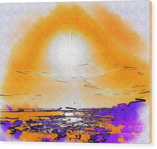 Dawning Wood Print by Deborah Selib-Haig DMacq