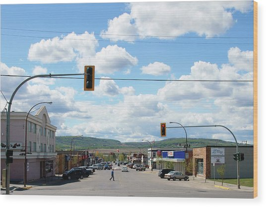 Dawson Creek British Columbia Wood Print by Robert Braley