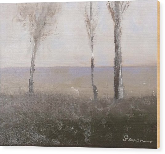 Wood Print featuring the painting Day Break by Patti Ferron