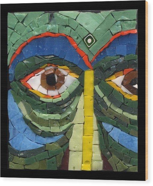Day Dreamer - Fantasy Face No. 8 Wood Print by Gila Rayberg