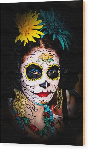 Day Of The Dead Eyes Wood Print
