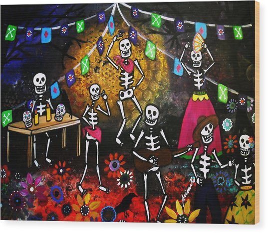 Day Of The Dead Festival Wood Print