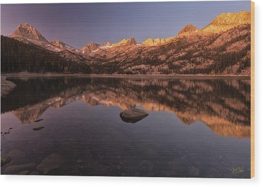 Wood Print featuring the photograph Daybreak At South Lake by Stuart Gordon