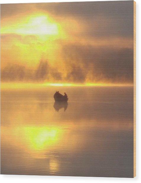 Daybreak Fishermen Wood Print