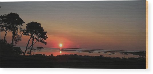 Daybreak In Edgartown Wood Print