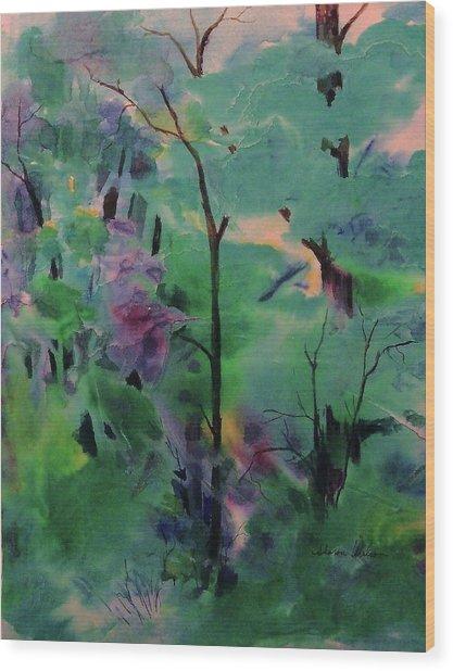 Daybreak Wood Print by Sharon K Wilson