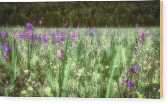 Daydreams In A Meadow Wood Print