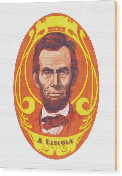 Dayglow Lincoln Wood Print