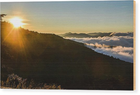 Daylight Above The Clouds Wood Print