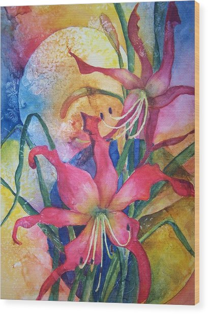 Daylilies In July Wood Print