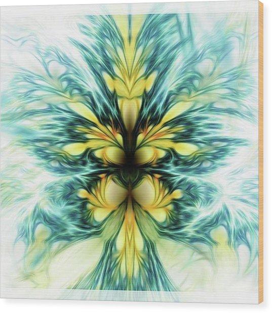 Dayqueen #art #abstract #digitalart Wood Print by Michal Dunaj