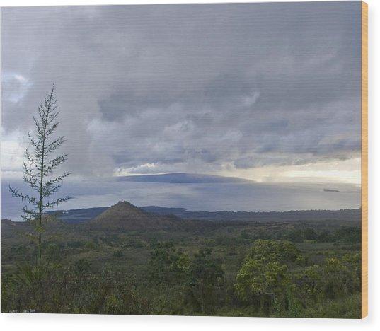 Days End At Kahoolawe Wood Print by Charlie Osborn