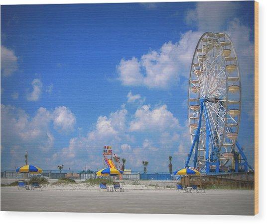 Daytona Beach Boardwalk Wood Print