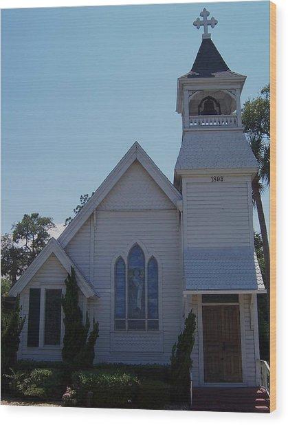 Daytona Church Wood Print by Kim Zwick