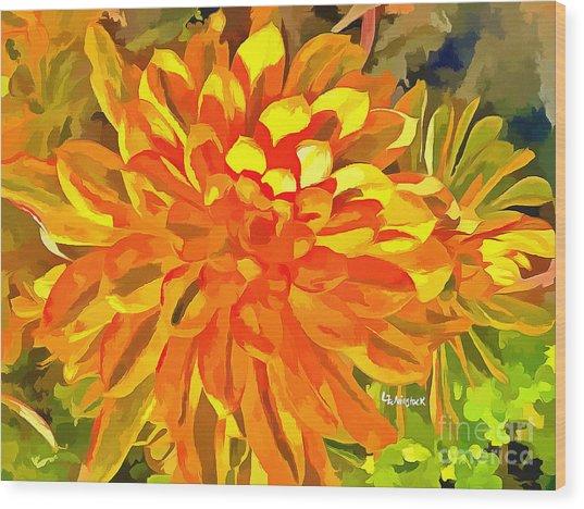 Dazzling Succulent Wood Print