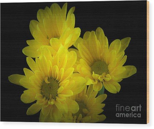 Dazzling Yellow Wood Print
