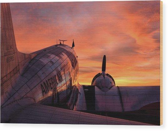 Dc-3 Dawn - 2017 Christopher Buff, Www.aviationbuff.com Wood Print