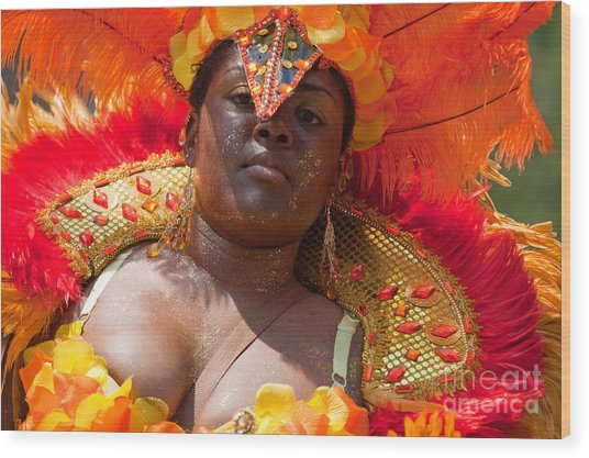 Dc Caribbean Carnival No 22 Wood Print by Irene Abdou