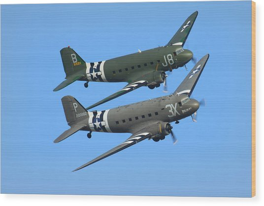 Dc3 Dakota C47 Skytrain Wood Print