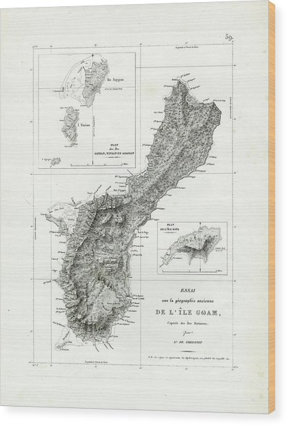 De L Ile Gwam Guam Wood Print
