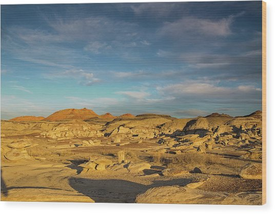 De Na Zin Wilderness Sunset Wood Print