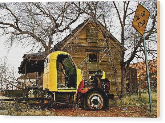 Dead End In Cuervo New Mexico Wood Print by Jennifer Addington