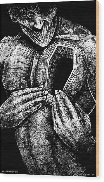 Dead Heart Wood Print