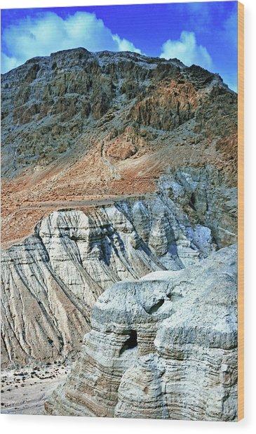 Dead Sea Scroll Caves Wood Print