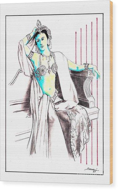 Deadly Diva, Mata Hari -- Portrait Wood Print
