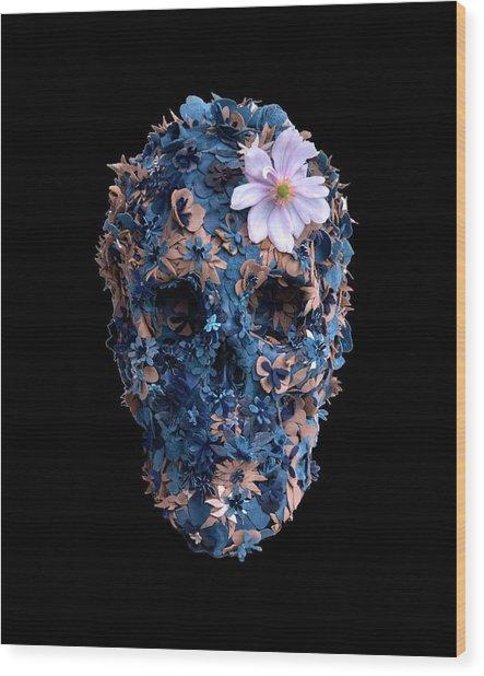 Skull 9 T-shirt Wood Print