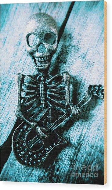 Death Metal Blues Wood Print