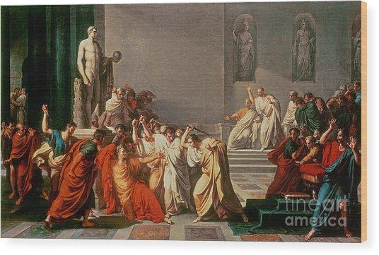 Death Of Julius Caesar Wood Print