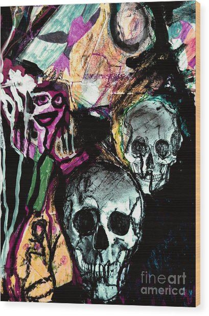 Death Study-2 Wood Print