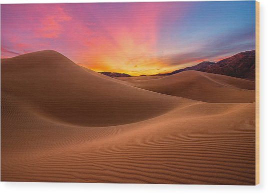 Death Valley Wood Print by Lincoln Harrison