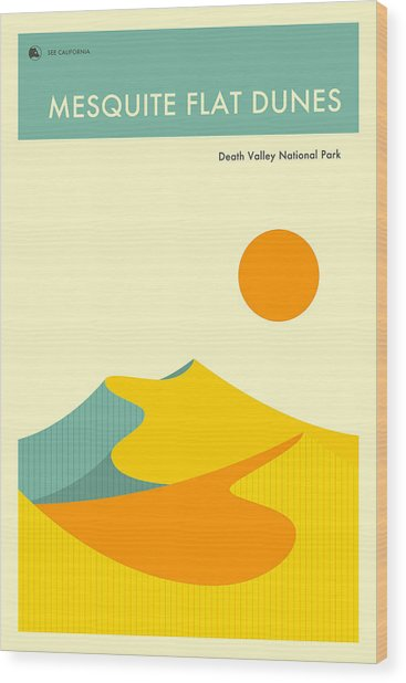 Death Valley National Park Poster Wood Print