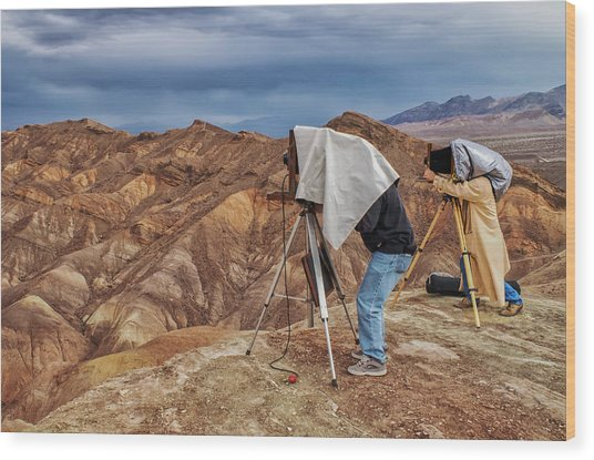 Wood Print featuring the photograph Death Valley Photographers by Jim Dollar