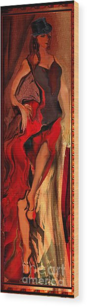 Debut In Red Wood Print by Anne Weirich