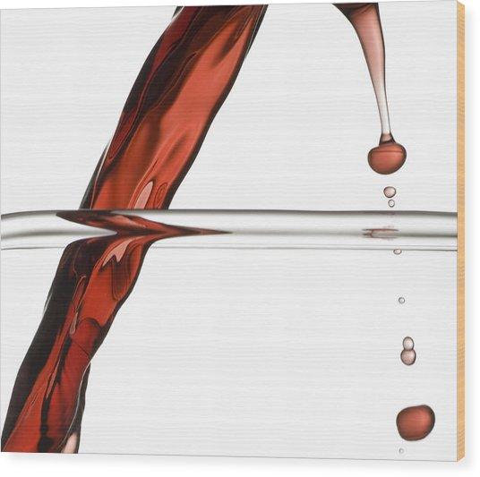 Decanting Wine Wood Print