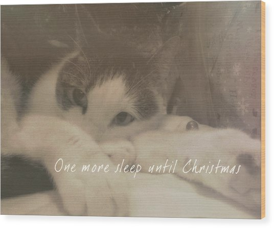 December 24th Quote Wood Print by JAMART Photography