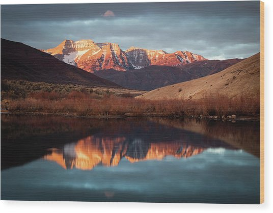 December Glow On Timp. Wood Print
