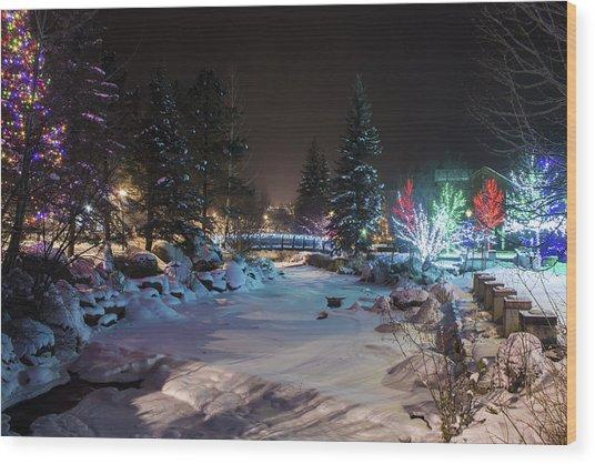 December On The Riverwalk Wood Print