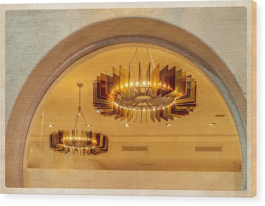 Deco Arches Wood Print