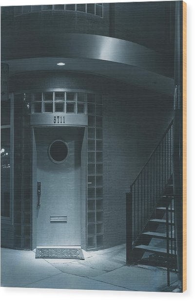 Deco Details At Midnight Wood Print by Jim Furrer