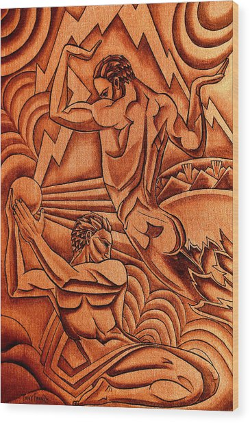 Deco Force Copper Wood Print